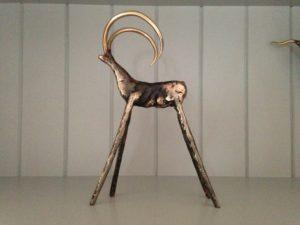 Bronze goat Sculpture