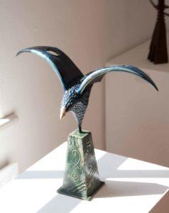 Blue bird Sculpture