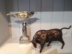 Bird and bull Sculpture