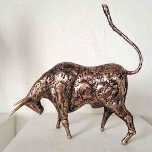 Bull brass Sculpture
