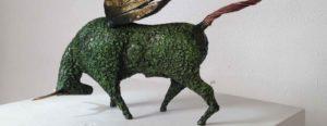 Wing bull Sculpture