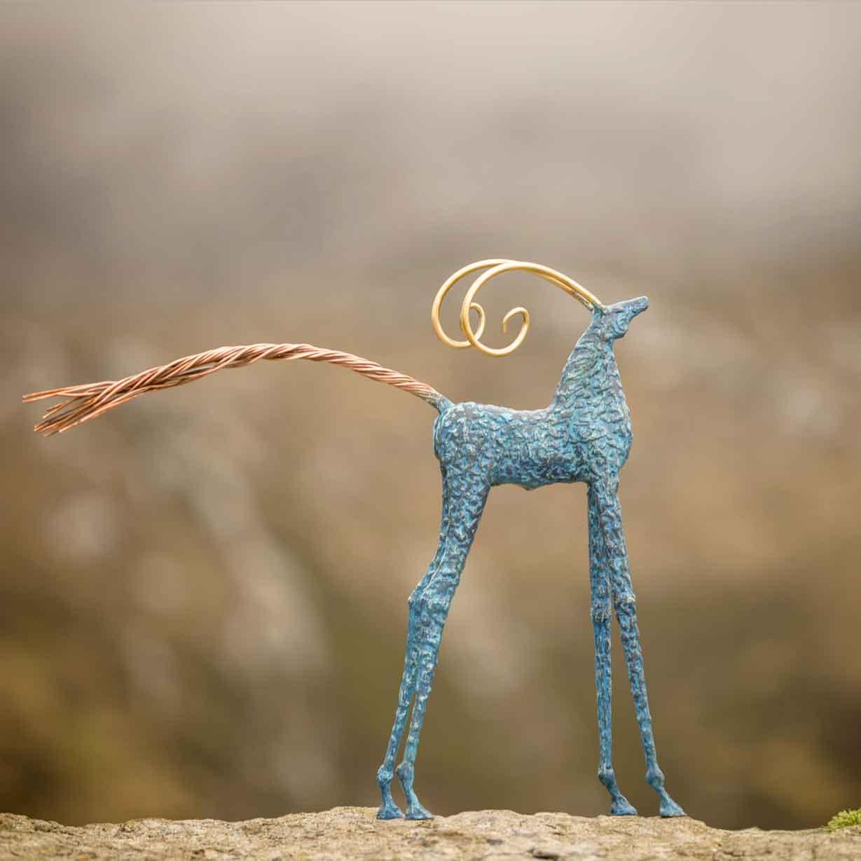 Blue horse Sculpture