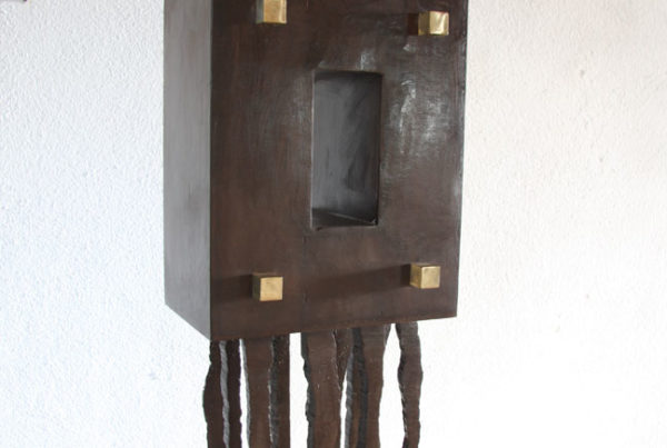 Arelia corten steel aluminium and brass Sculpture