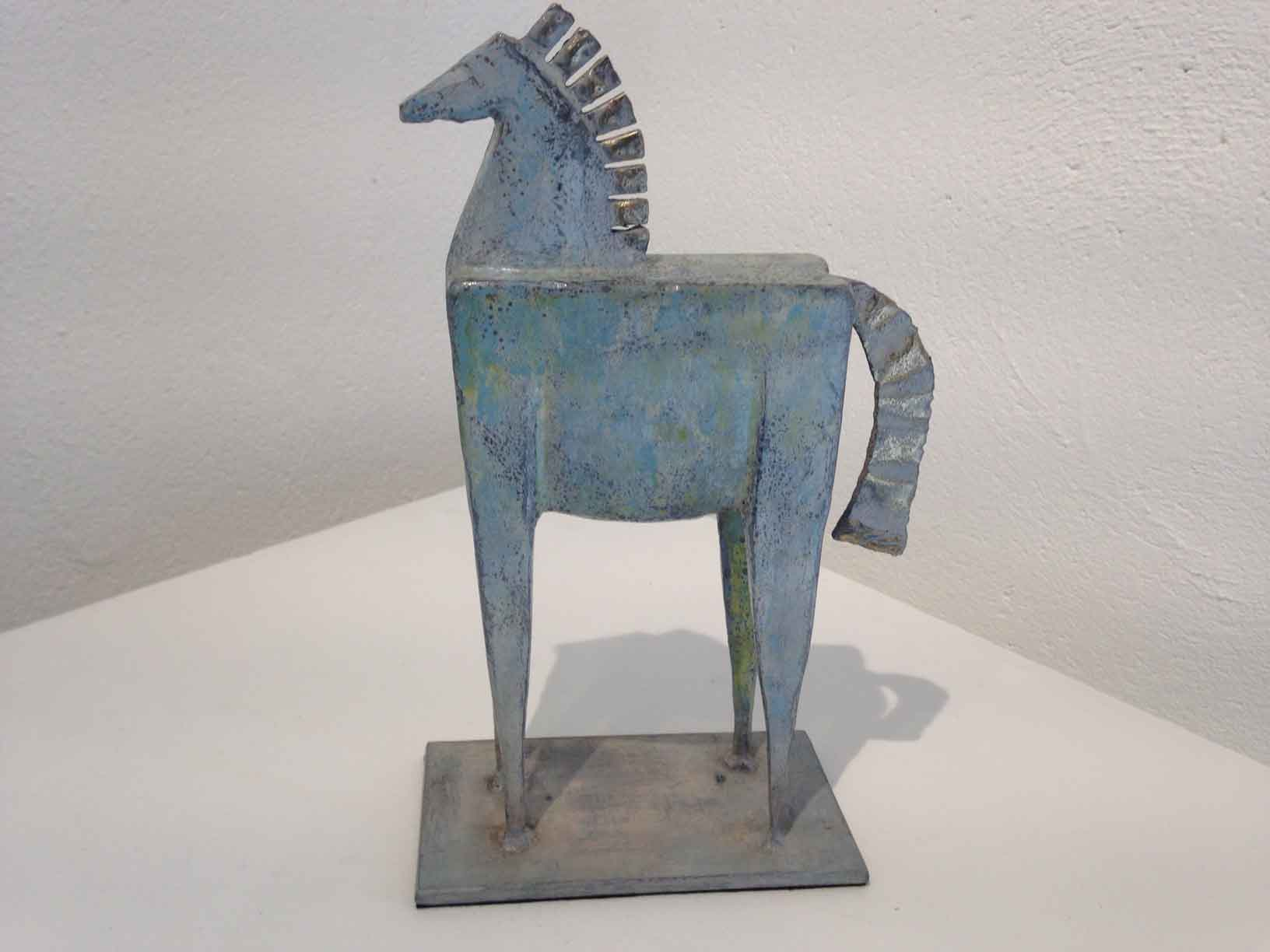 Steel and brass horse Sculpture