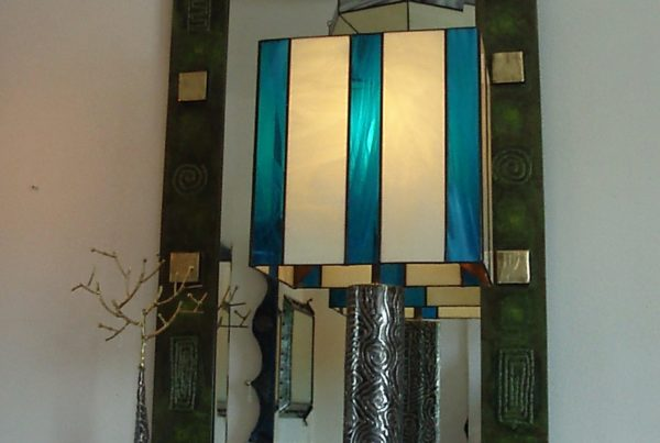 Mirror and lamp Sculpture