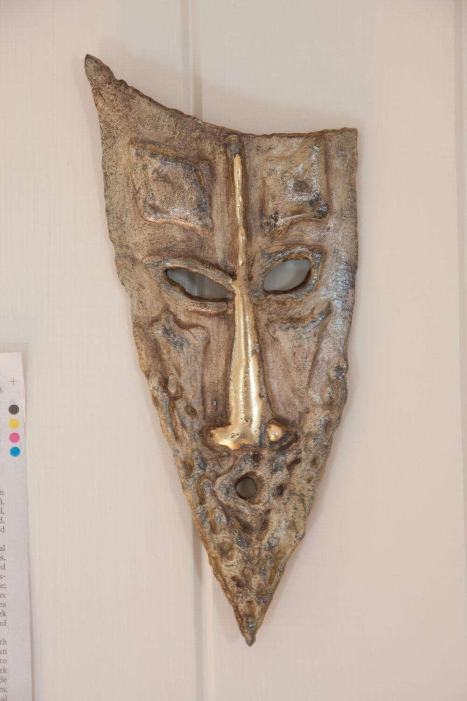 Ancestral head steel and brass Sculpture