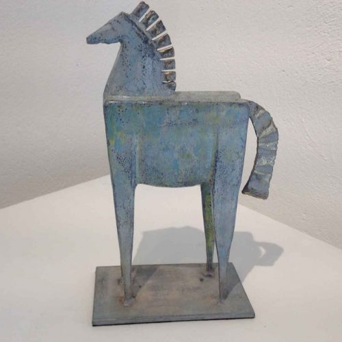 Steel and brass horse Sculpture